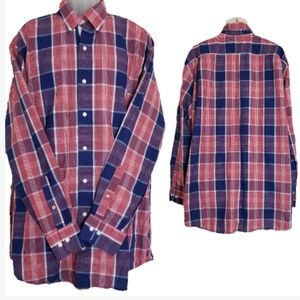 Nautica Plaid Button Down Long Sleeve Shirt